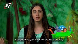 Tryk på billedet for at se klippet fra Liveshowet, hvor David beder for SAT-7
