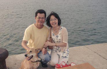 På billedet ses lederen af VOS, Brad Yu, og hans hustru.